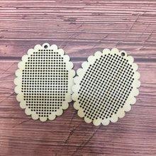 50 шт овальная нить для вышивки крестиком деревянные поделки