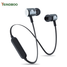 YEINDBOO Bass Bluetooth Headset Wireless Bass In-Ear Sports Headphones with Microphone For Xiaomi iPhone Samsung Headphones цена 2017