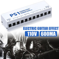10 Isolated 110V Tool Show Guitar Effect Pedals Output Power Supply Durable Band Adapter Shunt