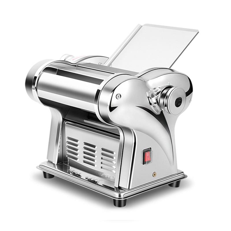 220V Electric Pasta Maker Dumpling Dough Skin Noodles Machine Stainless Steel