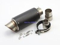 Glossy Carbon Fiber ID 61mm 2 4 L 315mm 12 4 Motorbike Muffler Exhaust Pipe Silencer