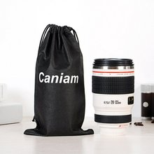 Creative fun black white stainless steel lens cup creative insulation realistic camera gift