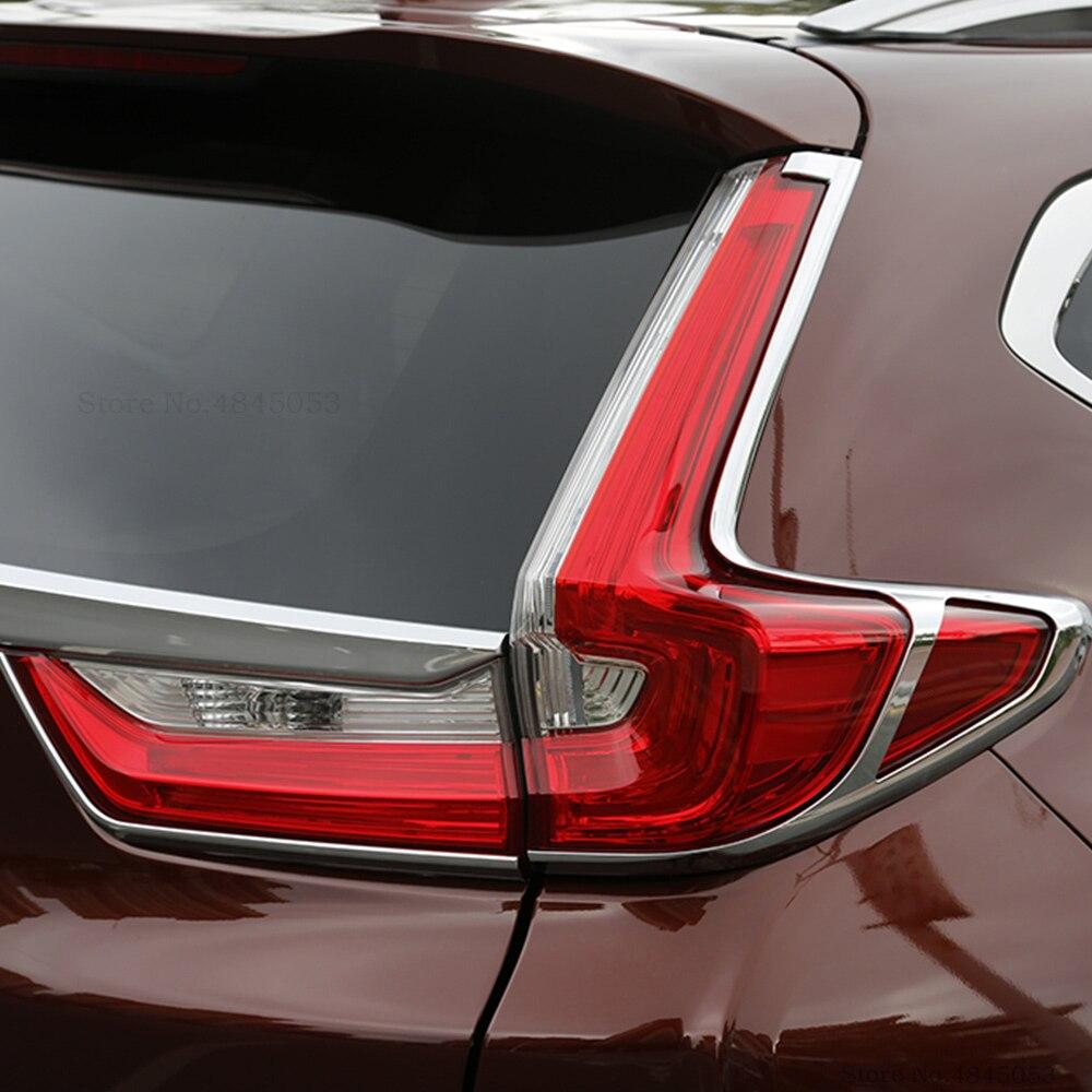 2pcs Chrome Rear Tail Light Trim Decoration Cover For Honda CRV CR-V 2012-2014