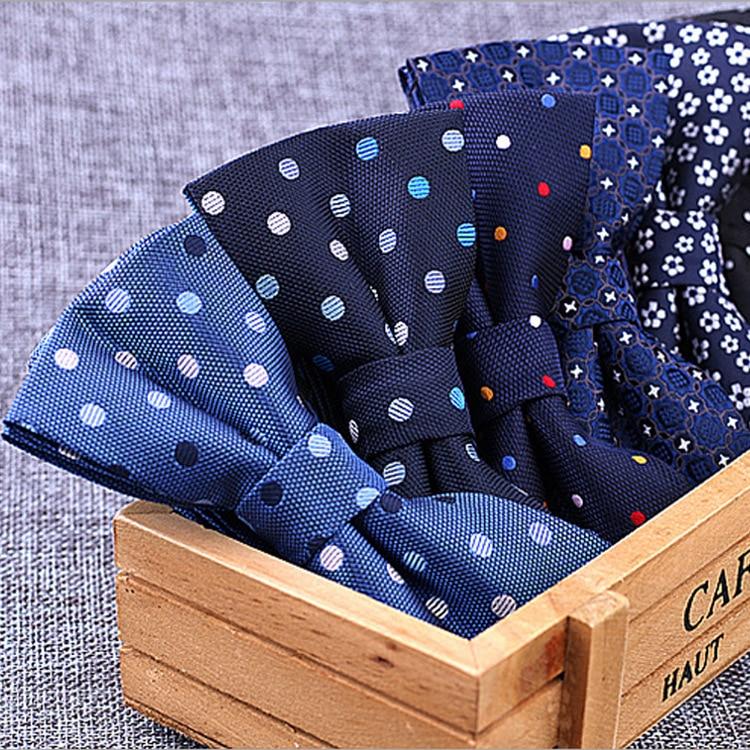 Новинка, 100% микрофибра, галстук бабочка, тканый, в горошек, в полоску, галстук бабочка, свадебное платье для мужчин, официальное, в горошек, собака, Бабочка, синий цвет|Мужские галстуки и носовые платки|   | АлиЭкспресс