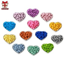 BOBO.BOX 100Pcs Silicone Beads Lentil 12mm Baby Teething Toys BPA Free Silicone Teether DIY Necklace Jewelry Pearl Baby Care 100pcs silicone beads 9mm round bpa free diy bead for tooth silicone teether necklace jewelry making baby teething toys