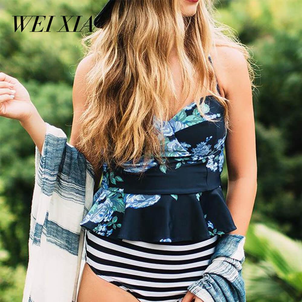 2018New Arrival WEIXIA Sexy Beach Swimwear Brazilian Women Swimsuit Beautiful Brazilian Bikini Sets