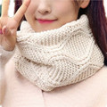 Fashion Geometry Plaid Women's Scarf Collar Solid Scarf LICs White Knitted Scarves Spring LIC For Women Warm Stole Winter Scarf