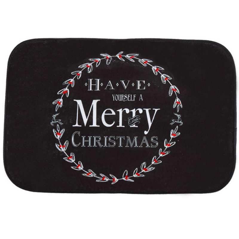 Happy font b Gift b font Creative Design Holiday Welcome Mat Outdoor Indoor Festival font b