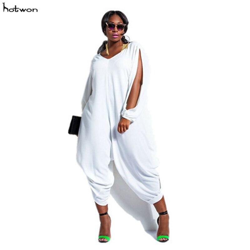 2017New Hot Sale Fashion Womens Long Sleeve Romper Baggy Harem Jumpsuit Playsuit Plus Size