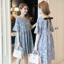 8dcf63486 Vestido de Maternidad nueva moda gato lindo vestidos del desgaste del verano  Premama vestidos para embarazadas Wome ropa embaraz.