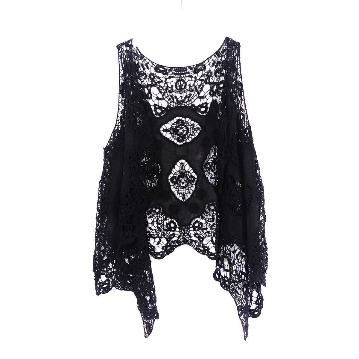 Асимметричный летний Boho кружевной трикотажный жакет для женщин с вырезами кардиган пальто верхняя одежда женский винтажный Froral джинсовый жакет с вышивкой