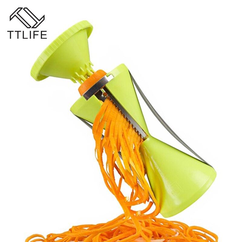 TTLIFE Blade Funnel Shredder Rotary Cutting Machine Kitchen Accessories Stainless Steel Kitchen Veggie Chopper