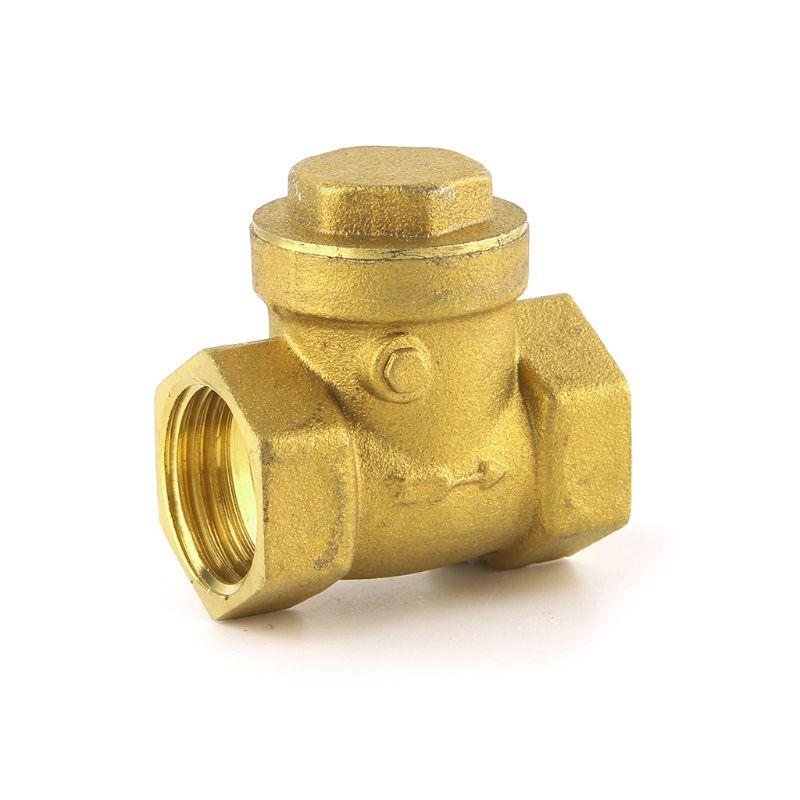 Golden Horizontal Check Valve Brass Non Return Valve 1/2