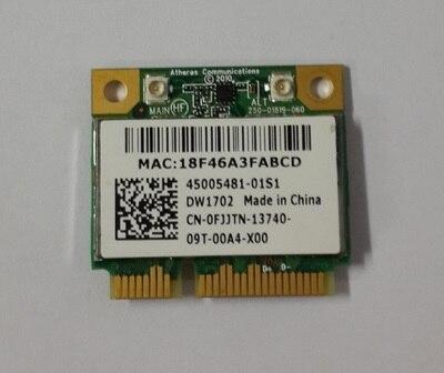 Original Atheros AR9285 AR5B195 DW1702 802.11 b/g/n Half Mini PCI-E WLAN BlueTooth Card for DELL 14R 15R N4010 N5010