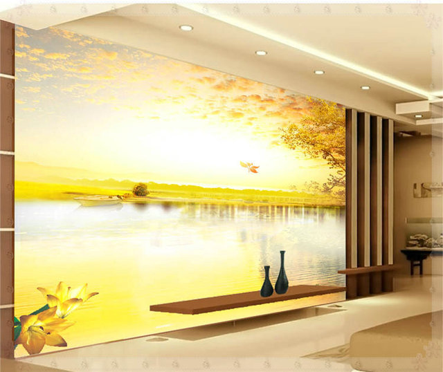 Autumn scenery beautiful environment design of modern household wall ...