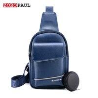 ZOROPAUL Brand Bag Men Chest Pack Single Shoulder Strap Back Bag Leather Travel Men S Crossbody