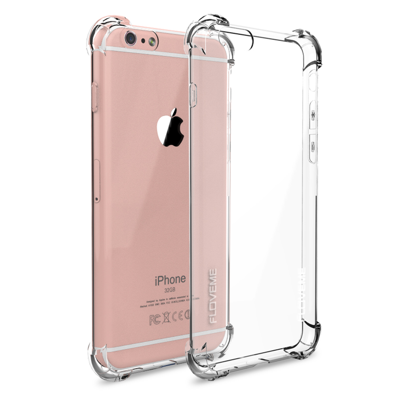 Floveme Super Anti-knock Drop-proof Case for iPhone 6 /6S for iPhone 6 /6S /Plus Soft TPU Transparent Clear Cover Full Protect