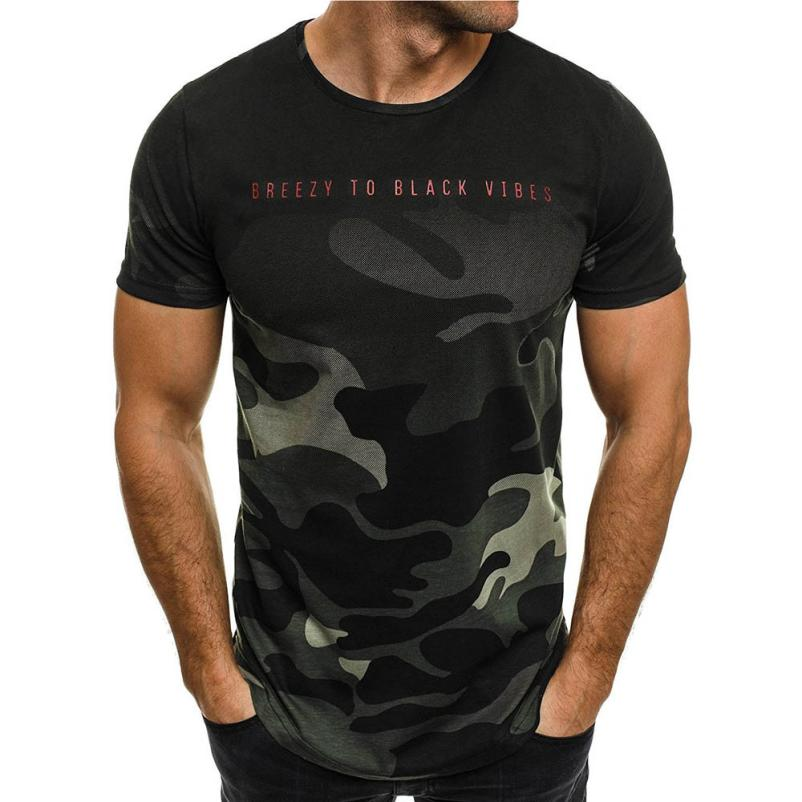 New Design Fashion Men's T-Shirt 2018 Summer Short Sleeve Camouflage T Shirt Men Brand Clothes Slim Fit Tshirt Camiseta