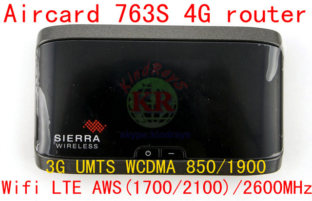 Unlocked Aircard 763S Sierra WirelessWIFI LTE 4G AWS(1700/2100)/2600MHz 3G GSM Mobile Broadband Router PK 754S 760S
