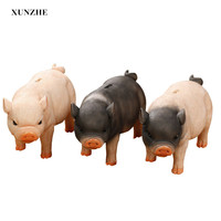 XUNZHE 1Pcs Three color resin super cute piggy bank Piggy Bank Baby Gift Box Money Coin Piggy Bank Money Saving Money Box