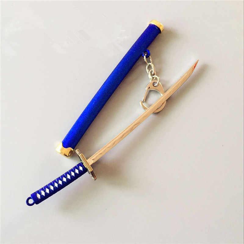 Naruto Espada Samurai Jogo Modelo Chaveiro Unisex Chaveiro com Bainha Cintura Chaveiro Pendurado Pingente de Chave Anel de Presente Coleção