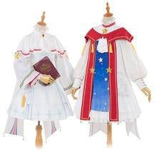 2019 Japanese Anime Card Captor KINOMOTO SAKURA Dress Lolita singing poems in the name of stars Cosplay Costume
