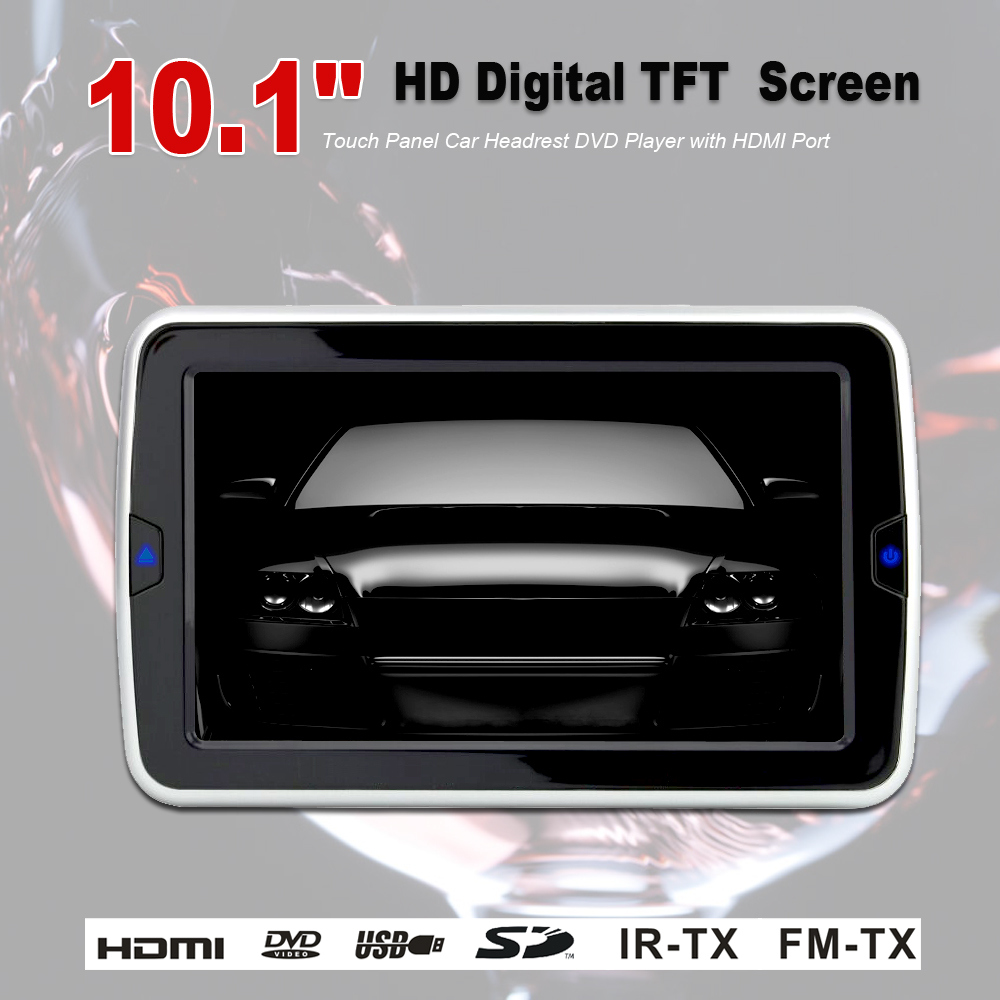 101 Inch Tft Lcd Wide Digital Touch Screen Car Headrest Dvd Player Wiring Diagram Rear Seat