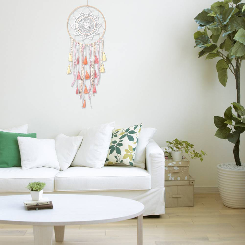 New Dream Catcher Feather Tasseled Dreamcatcher Hiasan Dinding Rumah Hadiah Dekorasi  Rumah Liontin Dekorasi Mobil di 7e1278ce74