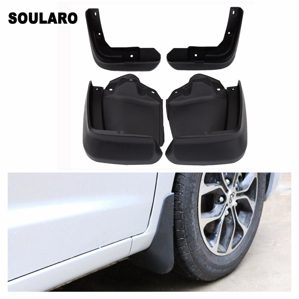 SOULARO Set Car Front Rear Fender Flares Fender Splash Mud Guards Flaps For 2012 2015 Honda Civic 4D Car Accessories
