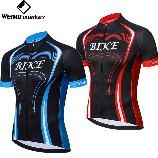 Road cycling jersey youth Short sleeve Mens Mountain Bike jersey 2018  summer Pro Team MTB clothing Maillot Ciclismo Top red Blue 05bb615f0