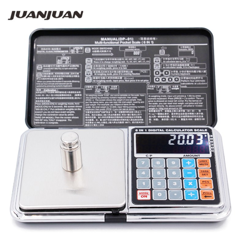 LCD 6 in 1 Multi function Digital Scales font b Electronic b font 0 01 500g