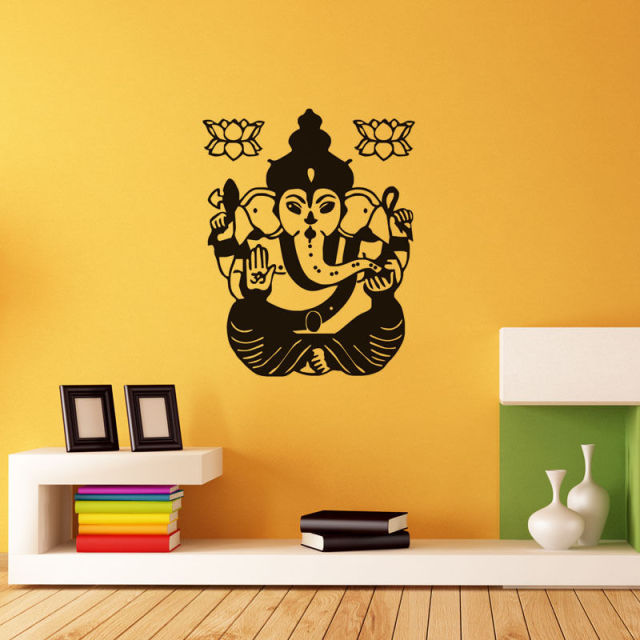 Ganesha Lord Indian Elephant Wall Decor Sticker Home Decoration Wall ...