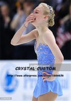 Crystal Custom Figure Skating Dress Girls New Brand Ice Skating Clothes For Competition DR4656