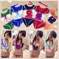 2016 New Japanese Anime Sailor Moon Cosplay Costume High Quality Sexy Sailormoon Bikini Swimsuit Lingerie Suit