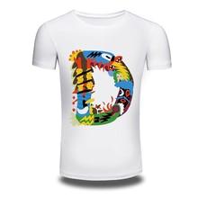 DY 194 Wholesale Hot Shirts Mens Loose Tee Shirt Short Sleeve 100 Cotton Tops Cartoon T