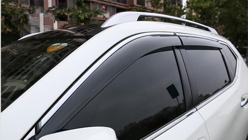 Window Visor Vent Shades Sun Rain Guard For Nissan Rogue X-Trail T32 2014-2017