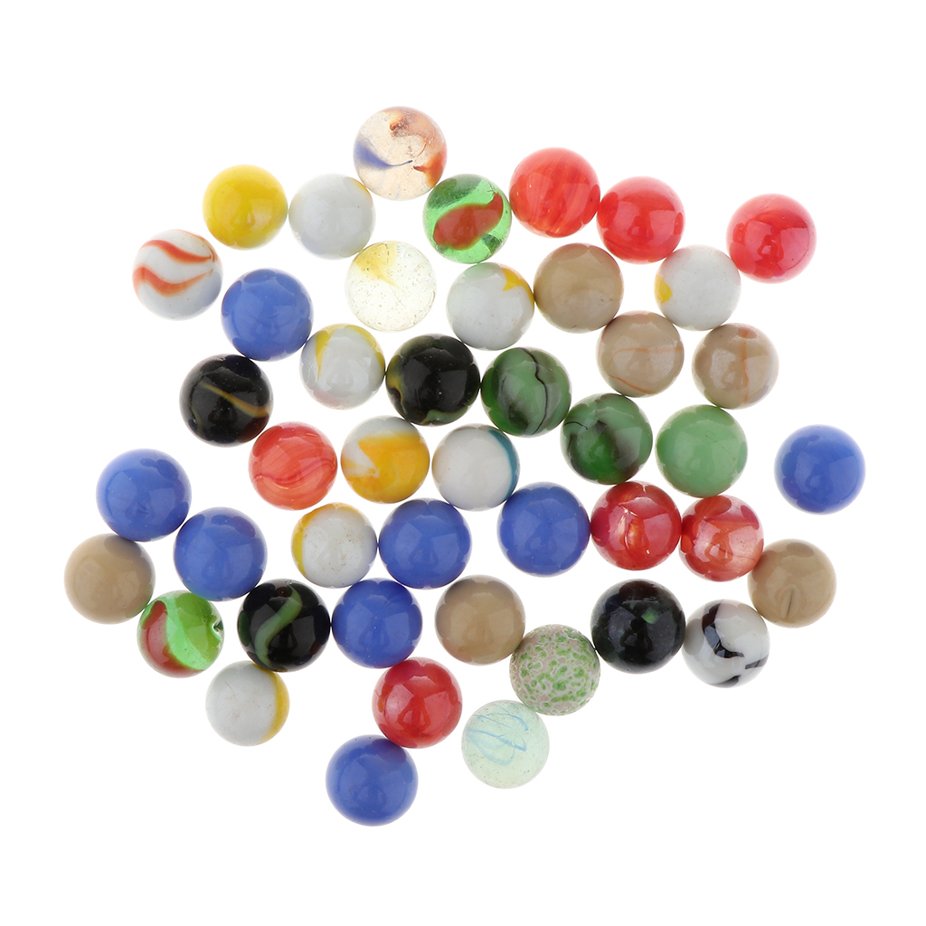 16mm 58 Diameter Bag of 60 Glass Marbles for Chinese Checkers Game