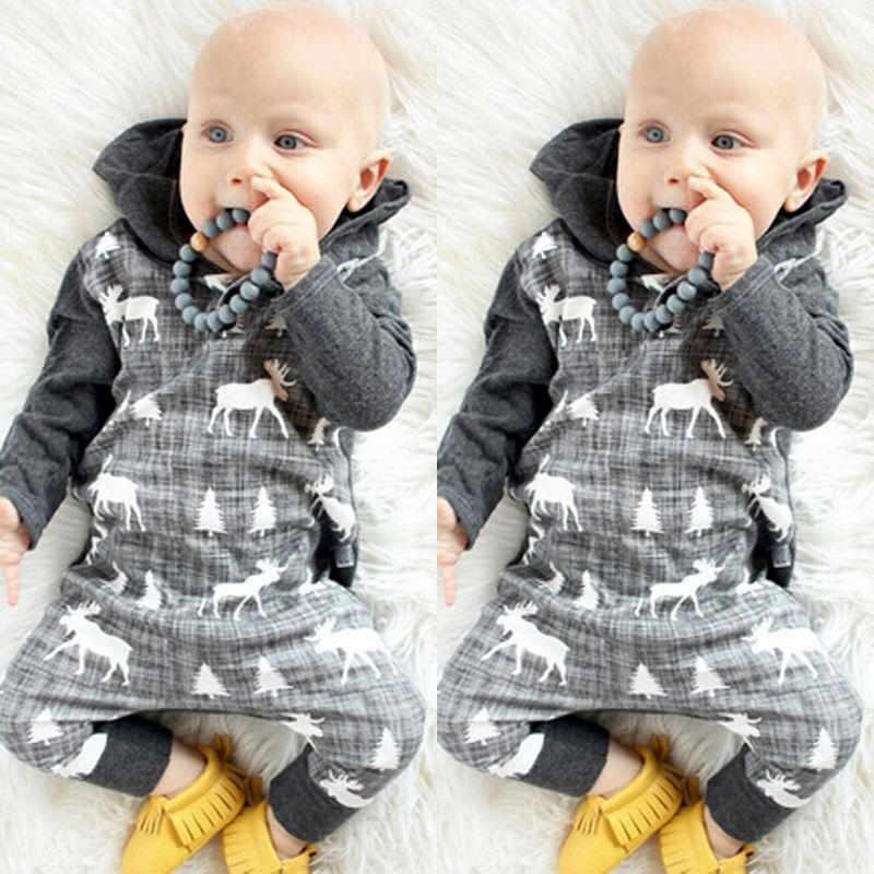 Kids Baby Boy Girls Clothing Rompers Warm Infant Romper Long Sleeve Cotton Xmax Jumpsuit Hooded Clothes Outfits cotton newborn infant baby boys girls clothes rompers long sleeve cotton jumpsuit clothing baby boy outfits