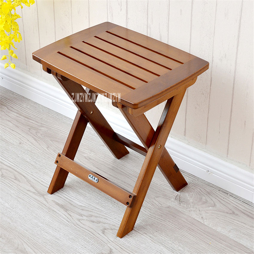 Modern Simple Portable Folding Bamboo Stool High-quality Solid Wood Small Bench Outdoor Fishing Stool Household Square Stool durable bamboo made small bench portable fishing stool bamboo wood folding stool