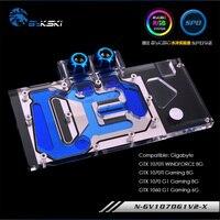 Bykski original GPU water block fit Gigabyte GTX1070G1 GAMING 8g ,GTX 1070Ti WINDFORCE 8G Block gpu cooler N GV1070G1V2 X