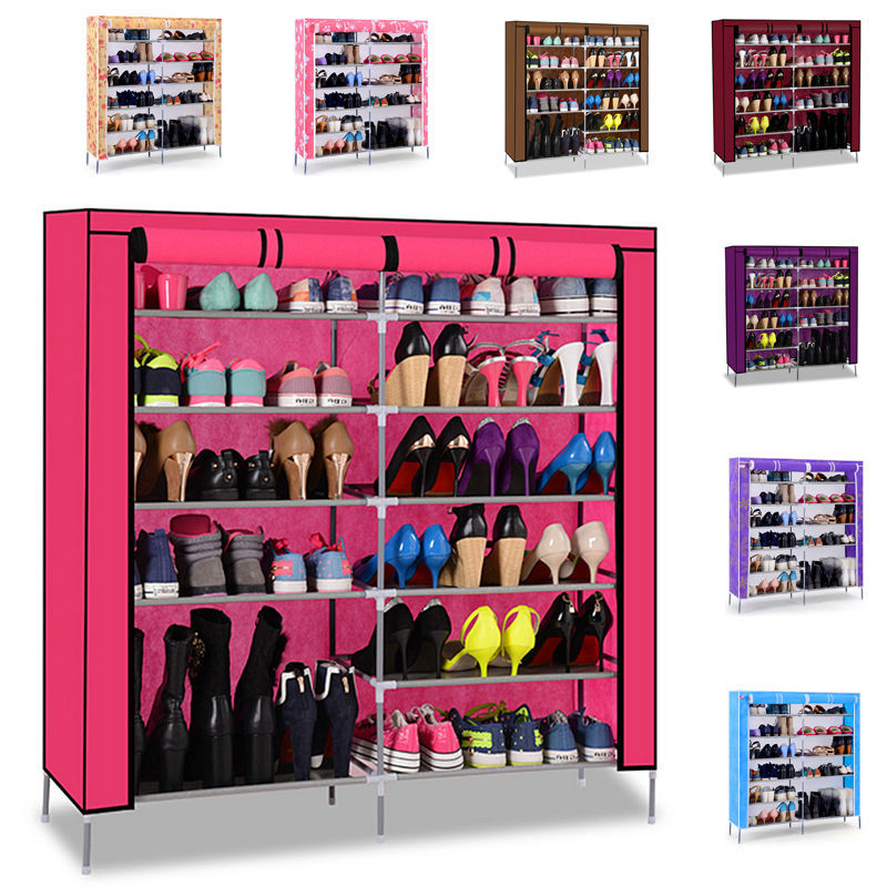 Non Woven Fabrics Shoe Rack Double Row And 6 Layers Shoe Cabinet For Living  Room ... Part 88