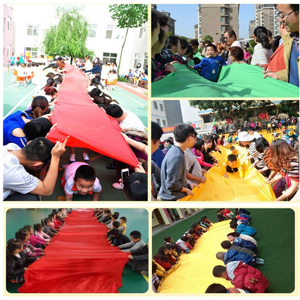 11m Long Kids Outdoor Sports Slippery Game Cloth Child Cooperation Training Game Tool Parent Child Interaction