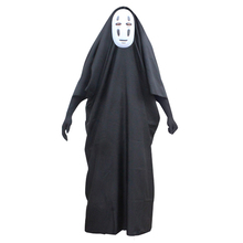 Spirited Away Cospaly No-Face Kaonashi Unisex Anime Costumes Gown Robe Cloak Mask Gloves