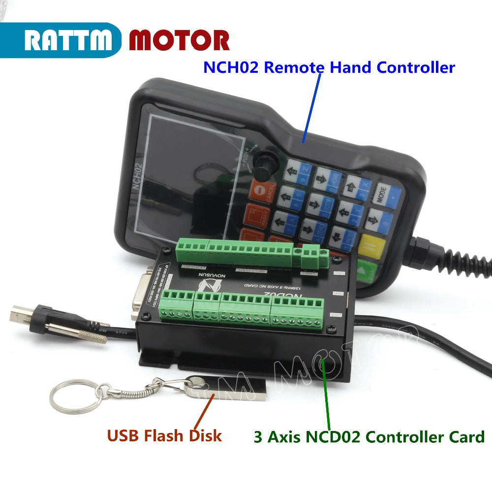 3 Axis NC Card USB CNC Motion Control System Axis Controller Board NCH02 Set