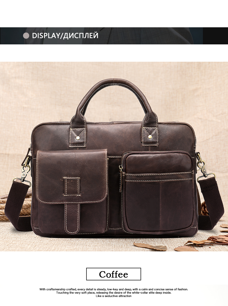 HTB1fMHpaEjrK1RkHFNRq6ySvpXaO WESTAL men's briefcase bag men's genuine Leather laptop bag office bags for men business porte document briefcase handbag 8503