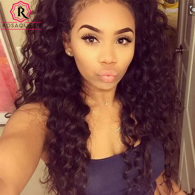 360 Lace Front Wig 180 High Density 360 Lace Front Human Hair Wigs 7A Peruvian Vrigin Deep Wave 360 Full Lace Human Hair Wigs