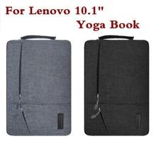 Diseño creativo libro portátil bolsa de la manga para lenovo yoga 10.1 pulgadas mano de la manera holder tablet pc case bolsa impermeable pluma como regalo