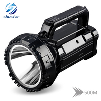 Rechargeable Bright LED Flashlight Torch 20W High powered searchlights Built in 2800mAh lithium battery Two working modes