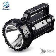 كشاف يدوي LED مضيء قابل لإعادة الشحن 20 واط كشاف عالي الطاقة مدمج بطارية ليثيوم 2800 مللي أمبير في الساعة وضعين للعمل
