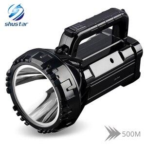 Image 1 - נטענת בהיר LED פנס לפיד 20W גבוה מופעל זרקורים מובנה 2800mAh ליתיום סוללה שני מצבי עבודה